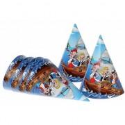 Merkloos Hoedjes piraten blauw 16 cm