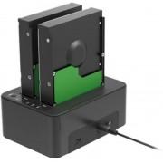Sharkoon QuickPort Duo USB 3.1 (3.1 Gen 2) Type-C Zwart