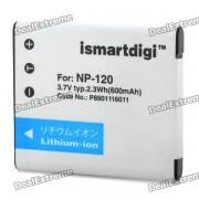 ISMARTDIGI reemplazo NP-120 3.7V 600mAh para Casio Exilim Card EX-S200 / EX-ZS10