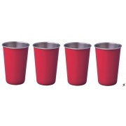 Thermosteel 400ml tumbler set (red)
