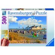 Ravensburger puzzle sezlonguri pe plaja, 500 piese