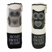 Pernuta decor cu bufnita home sweet home 38x13cm