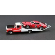 New 1:64 Acme Collection - Allan Moffat Racing 1968 Ford F-350 Ramp Truck & 1969 Mustang Boss 302 Trans Am #9 Coca Cola Set Of 2Pcs Diecast Model Car By