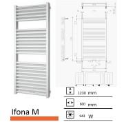 Badkamerradiator Ifona M 1230 x 600 mm Wit structuur