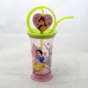 Disney Hercegnős spirál szívószálas pohár