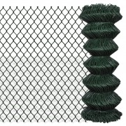 vidaXL Chain Fence 1 x 25 m Green