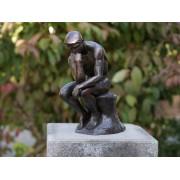 Statuie de bronz clasica Thinker of Rodin 29cm