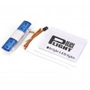 EW AX-501 Multi-función de parpadeo del LED de la policía para la barra de luz de coche RC TAMIYA 1/10 1/8
