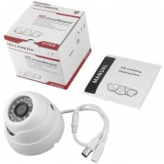 ER 1/3 '' 1200TVL 24 Luces LED De Visión Nocturna Resistente Al Agua De 3.6mm Lente HD Videocámara Color Blanco