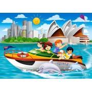 Puzzle Castorland - Motor Yacht Trip In Sydney, 60 Piese