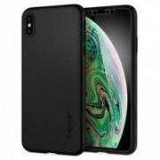 Carcasa Spigen Thin Fit 360 iPhone XS Max Black cu folie de protectie