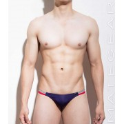 Mategear Kil Jeong Flat Front Seamless Extremely Sexy Mini Thong Underwear Purple 950901