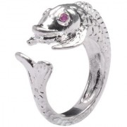 PeenZone 92.5 Silver Antique Fish Ring For Unsex