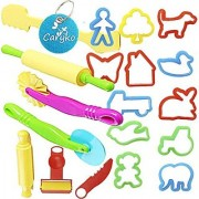 Carykon Smart Dough Tools Kit with Models and Molds Set of 20 PCS Trees and Animals
