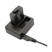 Dual USB Batería Cargador De Viaje Para SJ6000 SJCAM SJ4000 SJ5000 ( CH1 CH2 )