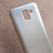 Силиконов калъф за Samsung J6 J600F златен гръб Lux