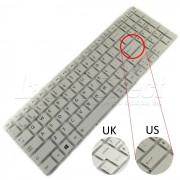 Tastatura Laptop Toshiba Satellite C55-C-14F alba + CADOU