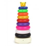 Fusine™ Educational teddy stacking ring jumbo. let your child learn different colours, stacking and sorting. (9 Rings)