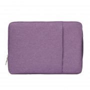 13,3 Pulgadas Moda Suave Denim Bags Portable Universal Laptop Notebook Laptop Funda Con Cremallera Para Macbook Air / Pro, Lenovo Y Otros Laptops, Tamaño: 35.5x26.5x2cm (purpura)