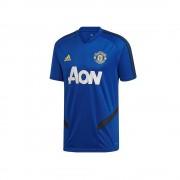 Adidas Mufc Training DX9029 football toute l'année hommes t-shirt bleu S