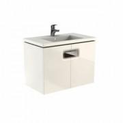 Mobilier pentru lavoar Kolo Twins cu doua usi, 80 cm alb lucios -89547000