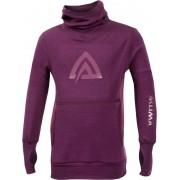 Aclima Kids WarmWool Hood Sweater Grape Wine/Damson 2018 110 Tunna underställströjor i merino