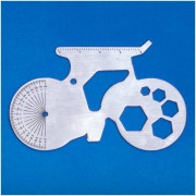 Thumbs Up Bicycle Shaped Multi Tool - Silver