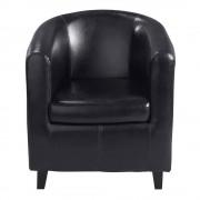 Maisons du Monde Club armchair in black Nantucket