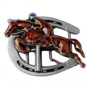 Electroprime® Zinc Alloy Western Rider Belt Buckle Horseshoe Buckle Metal Rodeo Men Biker