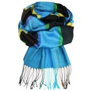 Amalfi luxusní hedvábný šál modrá