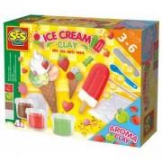 Детски Комплект с пластелин - Сладолед, SES, 080858