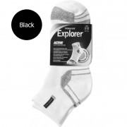 [6 Pack] Holeproof Explorer Active Cotton Blend Sport Socks Black SZEN1A