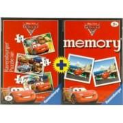 PUZZLE + JOC MEMORY DISNEY CARS 3 BUC IN CUTIE 152025 PIESE Ravensburger
