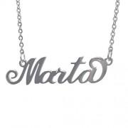 Acciaio : collana rolo' uomo donna con il tuo nome taglio laser (Marta)