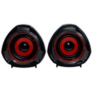 WOXTER Altavoces 2.0 WOXTER Big Bass 70 rojo (PC y MP3 - 15 W - Control de volumen)