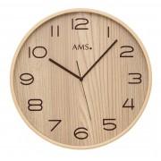 AMS 5514 Wandklok zendergestuurd hout 32 cm ø