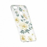 Husa Silicon Transparent Slim Floral 126 Huawei Y6 Prime 2018