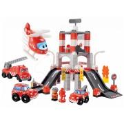 Écoiffier joc de construit pentru copii Staţie de pompieri Abrick 3039 roşu