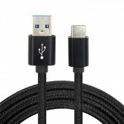 Cable de carga de datos USB tipo C de 2m para Nintendo Switch NS / NX - Negro