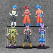 Dragon Ball Figures Goku Vegeta Frieza Trunks Beerus Model Toy Cool Super Saiyan Doll for Kids Battle of Gods 6pcs/set