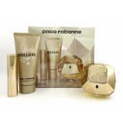 Paco Rabanne Lady Million Set Eau De Parfum 80 Ml + Body Lotion 100 Ml + Mini 5ml (3349668553006)