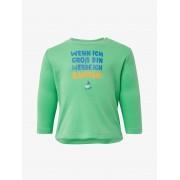 TOM TAILOR Shirt met lange mouwen en print op de borst, Kinderen, spring bouquet green, 68