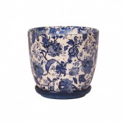 Ghiveci ceramica cu farfurie, Wenus, flori