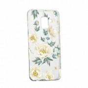 Husa Silicon Transparent Slim Floral 126 Samsung Galaxy A8 2018 Plus