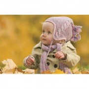 EJA Art Cute Baby Winter Cloth Without Frame Paper Poster Size 30X45 cms (With 12 Butterfly Free)