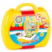 Jucărie valiză bucătărie, galben