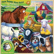 MasterPieces / Fun Facts 48-Piece Wood Puzzle Farm Friends