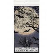 Vegaoo Plastduk med fullmåne till Halloweenbjudningen One-size