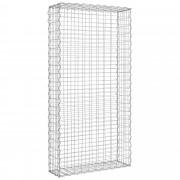 [pro.tec]® Gabion fal 200 x 100 x 30 cm kőkosár térelválasztó kerítés kőbox kődoboz horganyzott drót