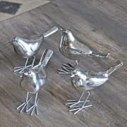 Set 4 oiseaux chromés Chehoma
